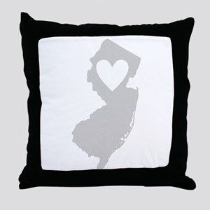 Heart New Jersey Throw Pillow