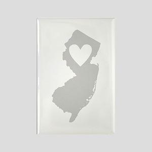 Heart New Jersey Rectangle Magnet