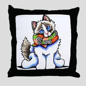 Ragdoll Scarf Throw Pillow
