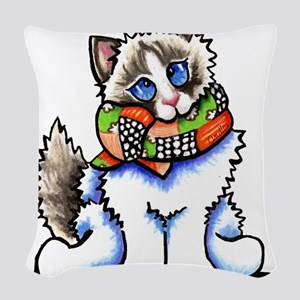 Ragdoll Scarf Woven Throw Pillow