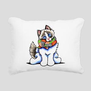 Ragdoll Scarf Rectangular Canvas Pillow