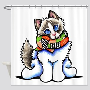 Ragdoll Scarf Shower Curtain