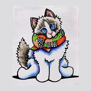 Ragdoll Scarf Throw Blanket