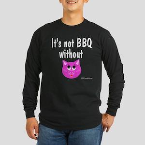 Pork BBQ Long Sleeve Dark T-Shirt