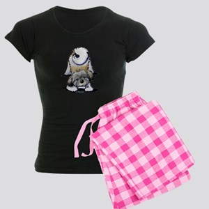 Playful Havanese Women's Dark Pajamas
