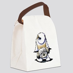 Playful Havanese Canvas Lunch Bag