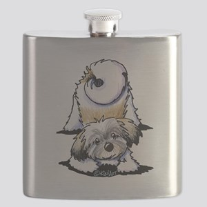 Playful Havanese Flask