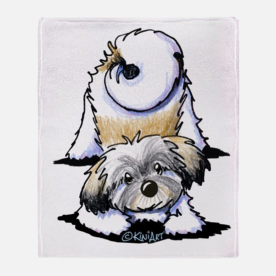 Playful Havanese Throw Blanket