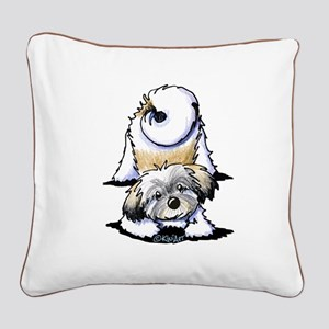 Playful Havanese Square Canvas Pillow
