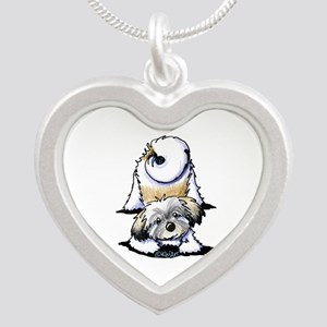 Playful Havanese Silver Heart Necklace