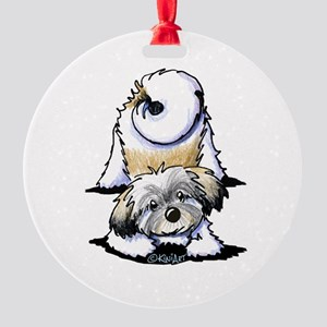 Playful Havanese Round Ornament