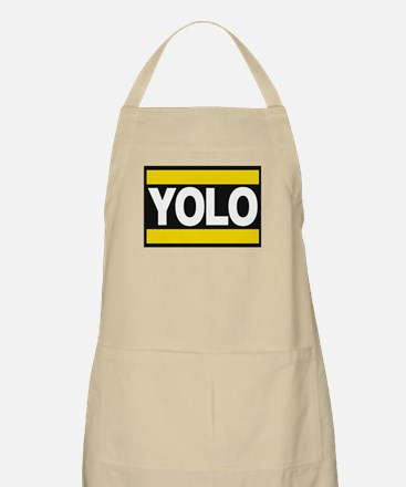 yolo1 yellow Apron