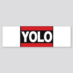 yolo1 red Bumper Sticker