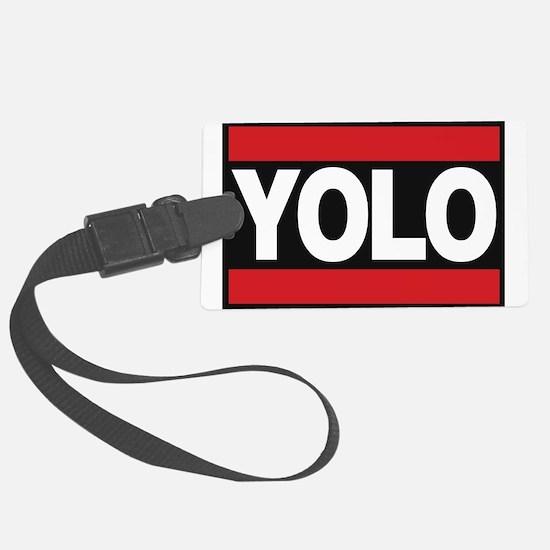 yolo1 red Luggage Tag
