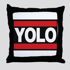 yolo1 red Throw Pillow