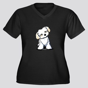 Havanese Sweetie Women's Plus Size V-Neck Dark T-S
