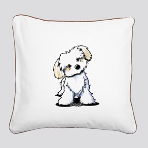 Havanese Sweetie Square Canvas Pillow