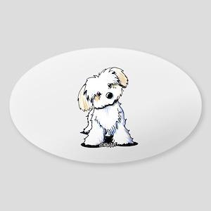 Havanese Sweetie Sticker (Oval)
