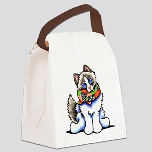 Ragdoll Scarf Canvas Lunch Bag