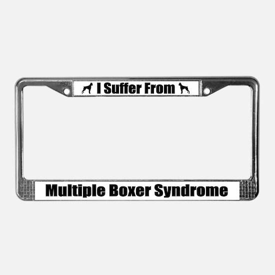 Boxer License Plate Frame