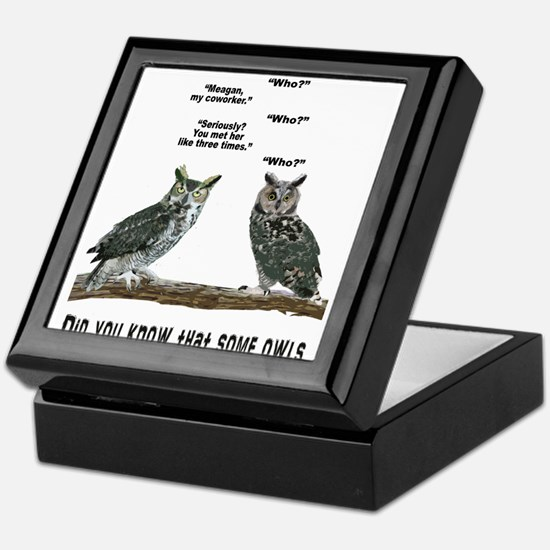 Not So Wise Old Owls Keepsake Box