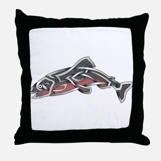 Salmon Throw Pillow