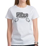 Official Nerd now back off! Women's T-Shirt