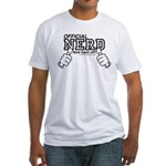 Official Nerd not back off! Fitted T-Shirt