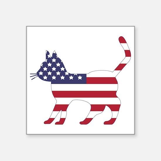 US Flag Cat Icon Sticker