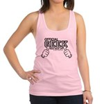 Official Geek now back off! Racerback Tank Top