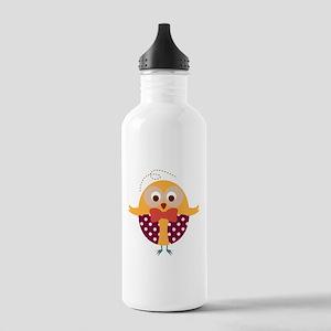Folk Art Owl Water Bottle