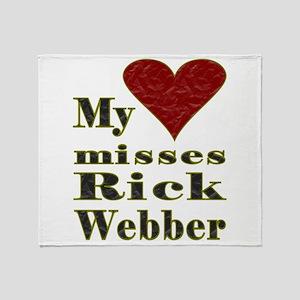 Heart Misses Rick Webber Throw Blanket