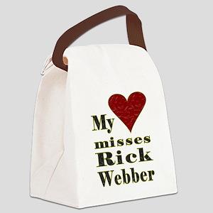 Heart Misses Rick Webber Canvas Lunch Bag