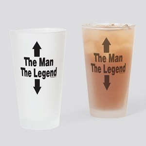 The Man The Legend Drinking Glass