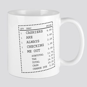 Cashiers are always checking me out receipt graphi