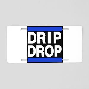 drip drop 1blue Aluminum License Plate