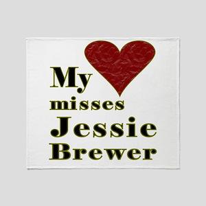 Heart Misses Jessie Brewer Throw Blanket