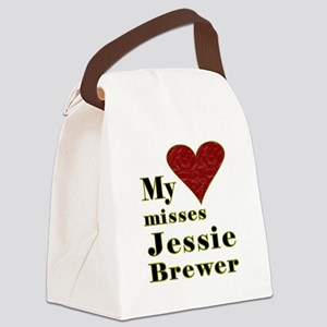 Heart Misses Jessie Brewer Canvas Lunch Bag