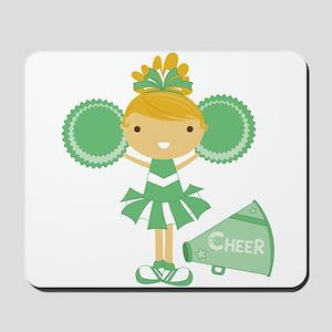 Cheerleader in Green Mousepad