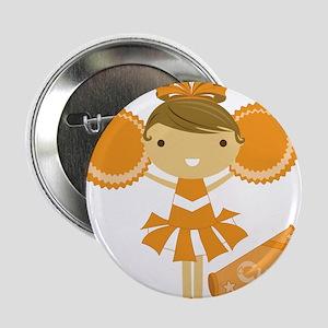 """Cheerleader in Orange 2.25"""" Button"""
