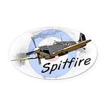 Spitfire Oval Car Magnet