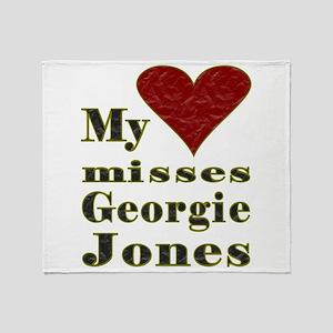 Heart Misses Georgie Jones Throw Blanket
