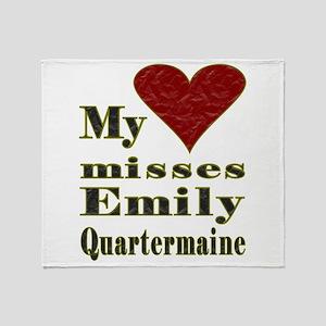 Heart Misses Emily Quartermaine Throw Blanket