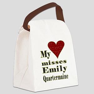 Heart Misses Emily Quartermaine Canvas Lunch Bag