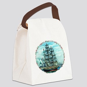 Sailing Ship Canvas Lunch Bag