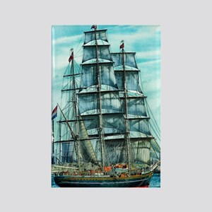 Sailing Ship Rectangle Magnet
