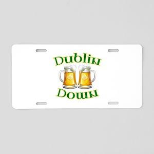 Dublin Down Aluminum License Plate