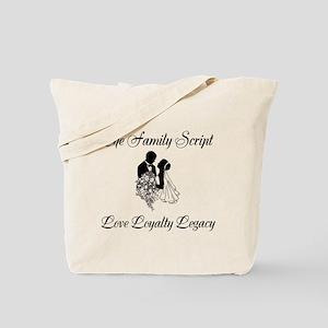 The Family Script Tote Bag