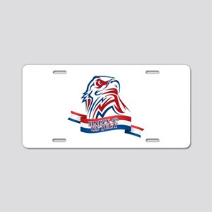4th Of July Eagle Aluminum License Plate