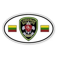 Lithuanian Scouts Sticker (Oval)